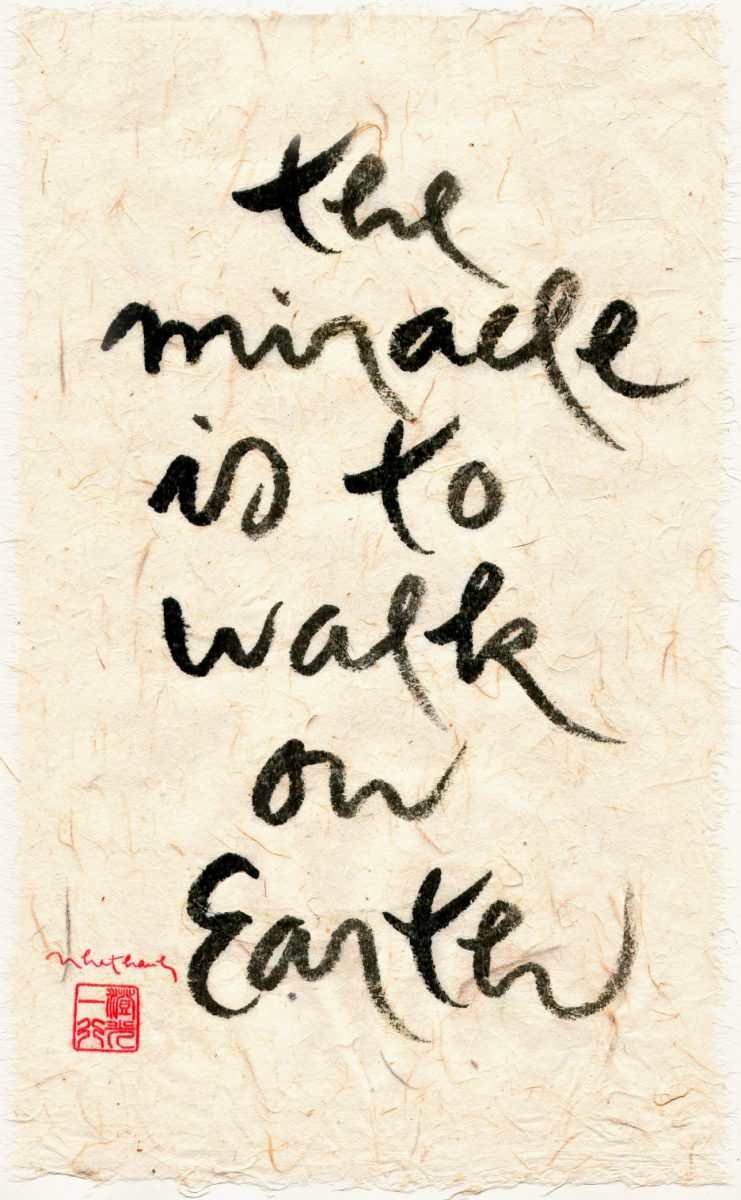 The miracle is to walk on Earth
